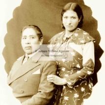Retrato de pareja de mestizos chumbivilcanos