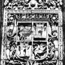 Escudo del frontis, Iglesia de Santo Tomás.
