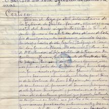 Acta de inventario de la Iglesia de Santo Tomás firmada por el párroco León Ciprián, el 29 de octubre de 1929.